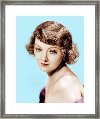 Myrna Loy, Mgm Portrait, 1930s Framed Print by Everett