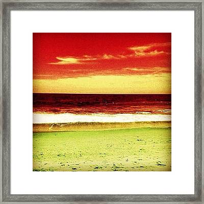 #myrtlebeach #ocean #colourful Framed Print