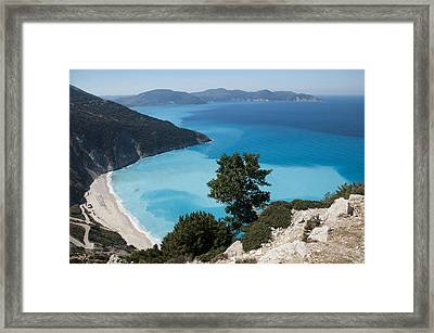 Myrtos Beach Kefalonia Framed Print by Rob Hemphill
