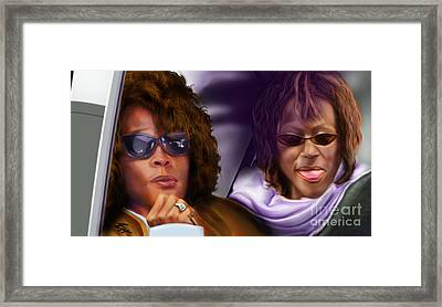 Myself And I - Whitney Framed Print by Reggie Duffie
