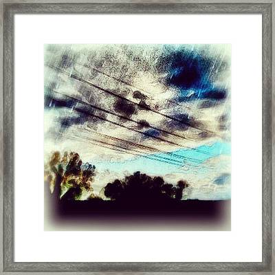 mysky #sky #abstract #clouds Framed Print