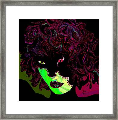 Mysterious Masquerade Framed Print by Natalie Holland