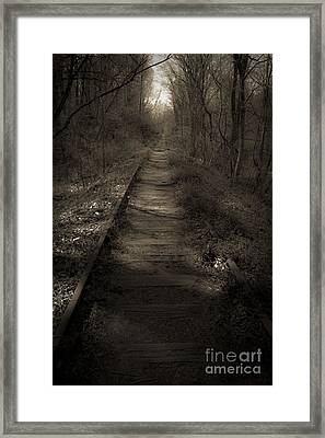 Mysterious Tracks Framed Print
