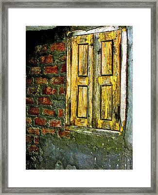 Mysterious Window Framed Print by Makarand Purohit