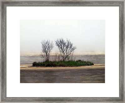 Mystery Island Framed Print by Kim Schmidt