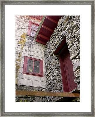Mystery Of The Red Door Framed Print by Sandi OReilly