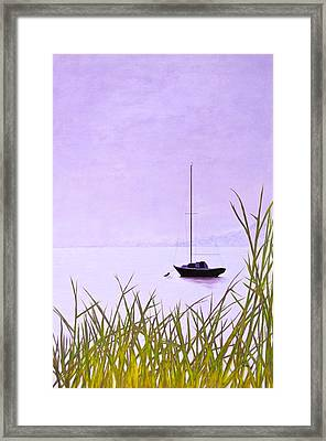 Framed Print featuring the painting Mystic Haze B by Cindy Lee Longhini