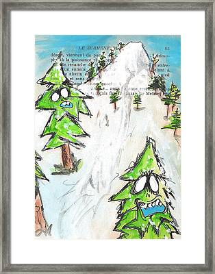 Mystic Mountain Framed Print by Jera Sky