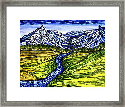 Mystic Mountains Framed Print by Stephanie Meyer