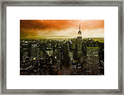 mystic New York Framed Print by Marcel Schauer