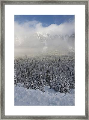 Framed Print featuring the photograph Mystic Peaks by Sylvia Hart