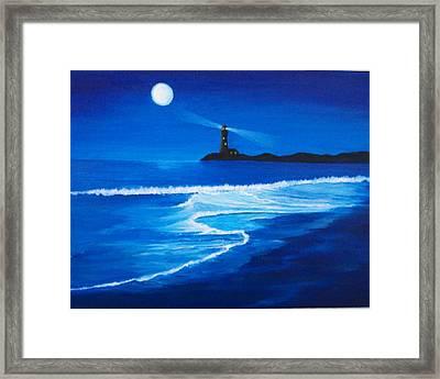Mystic Shore Framed Print by Linda Bennett