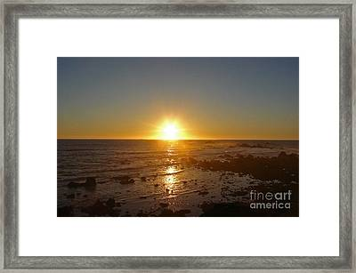 Mystic Sunset 2 Framed Print by Suze Taylor