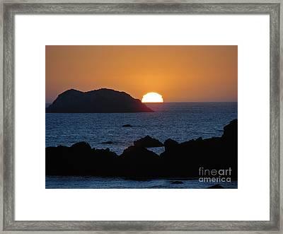 Mystic Sunset Framed Print by Suze Taylor