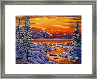 Mystic Winter Framed Print by David Lloyd Glover