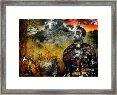 Framed Print featuring the digital art Mystical Adventures by Rhonda Strickland