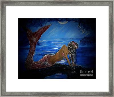 Mystical Midnight Mermaid Series 2 Framed Print