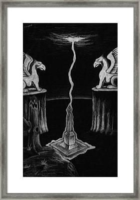 Mystical Monolith Framed Print