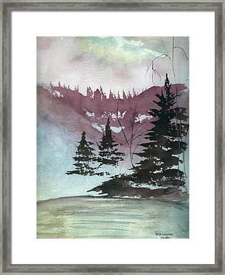 Mystical Pond Framed Print by Bernadette Krupa