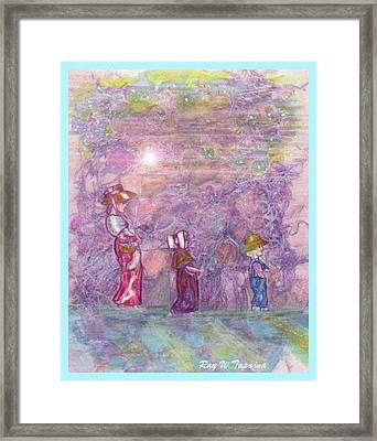 Framed Print featuring the mixed media Mystical Stroll by Ray Tapajna
