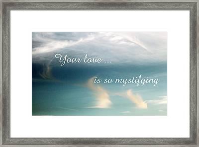 Mystifying Framed Print