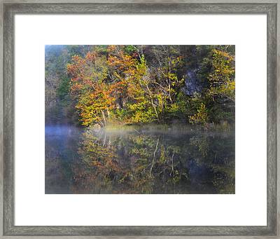 Mysty Morn On The Current Framed Print by Marty Koch
