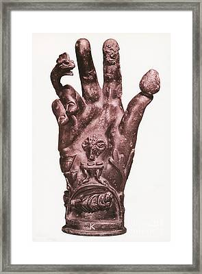 Mythological Hand Framed Print by Photo Researchers