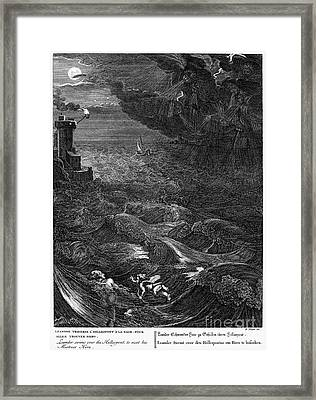 Mythology: Leander Framed Print