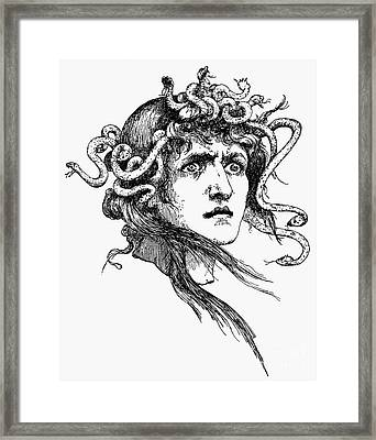 Mythology: Medusa Framed Print by Granger