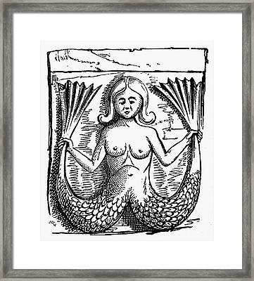 Mythology: Mermaid Framed Print