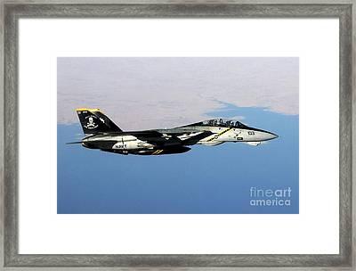 N F-14b Tomcat Flies Over Iraq Framed Print