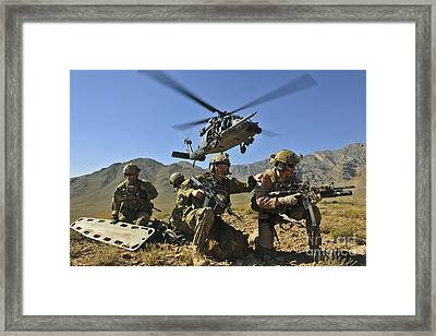N Hh-60g Pave Hawk Hovers Framed Print by Stocktrek Images