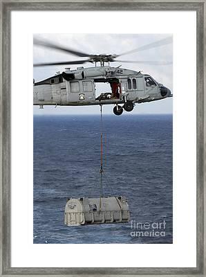 N Mh-60s Sea Hawk En Route Framed Print by Stocktrek Images