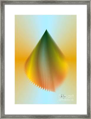 Framed Print featuring the digital art N5 by Leo Symon