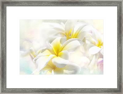 Na Lei Pua Melia Aloha E Ko Lele - Yellow Tropical Plumeria Maui Framed Print by Sharon Mau