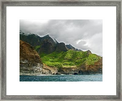 Na Pali Coast Hawaii 04 Framed Print
