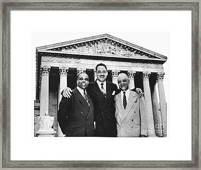 Naacp Attorneys, 1954 Framed Print by Granger