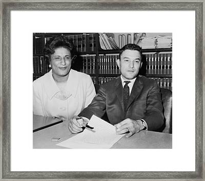 Naacp Lawyers Jack Greenberg B.1924 Framed Print by Everett