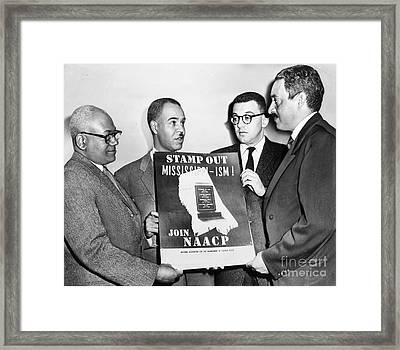 Naacp Leaders, 1956 Framed Print by Granger