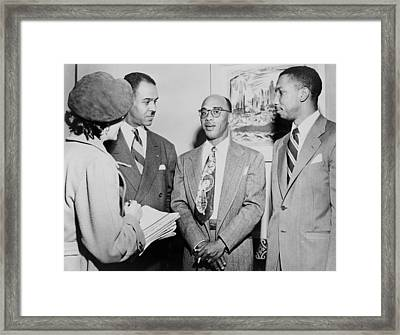 Naacp Leaders During Press Conference Framed Print by Everett