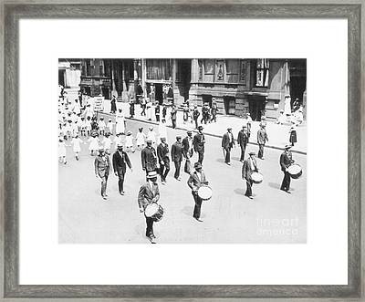 Naacp Parade, Nyc, 1917 Framed Print by Granger