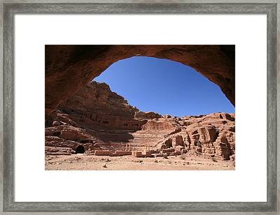 Nabatean Theatre, Petra, Jordan Framed Print by Joe & Clair Carnegie / Libyan Soup
