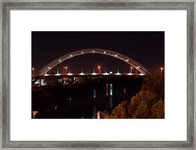 Nachville Bridge By Night 2 Framed Print by Douglas Barnett