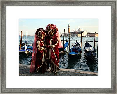 Framed Print featuring the photograph Nadine And Daniel Across San Giorgio by Donna Corless