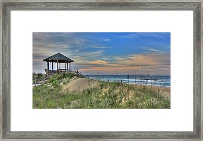Nags Head Gazebo Framed Print