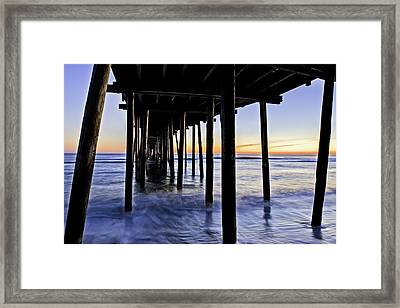 Nags Head Pier - A Different View Framed Print by Rob Travis