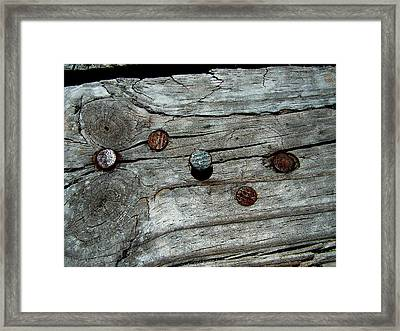 Nails Framed Print