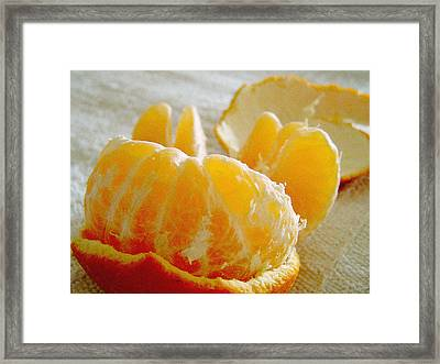 Naked In Bed Framed Print by Guadalupe Nicole Barrionuevo