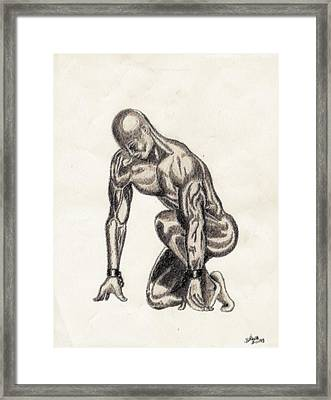 Naked Man Framed Print by Shawn Williams