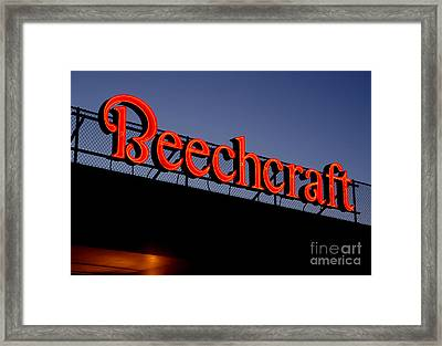 Name Beechcraft Framed Print by Fred Lassmann